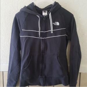 North face women's small black zip up hoodie GUC